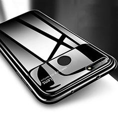 Handyhülle Hülle Kunststoff Schutzhülle Tasche Matt P04 für Huawei Honor V20 Schwarz