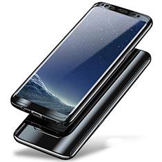 Handyhülle Hülle Kunststoff Schutzhülle Tasche Matt Vorder und Rückseite 360 Grad A01 für Samsung Galaxy Note 8 Schwarz