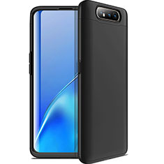 Handyhülle Hülle Kunststoff Schutzhülle Tasche Matt Vorder und Rückseite 360 Grad C01 für Samsung Galaxy A80 Schwarz