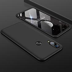 Handyhülle Hülle Kunststoff Schutzhülle Tasche Matt Vorder und Rückseite 360 Grad für Huawei Enjoy 9 Plus Schwarz