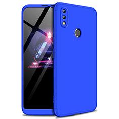 Handyhülle Hülle Kunststoff Schutzhülle Tasche Matt Vorder und Rückseite 360 Grad für Huawei Enjoy Max Blau