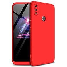 Handyhülle Hülle Kunststoff Schutzhülle Tasche Matt Vorder und Rückseite 360 Grad für Huawei Enjoy Max Rot