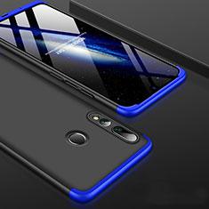 Handyhülle Hülle Kunststoff Schutzhülle Tasche Matt Vorder und Rückseite 360 Grad für Huawei Honor 20 Lite Blau und Schwarz