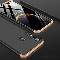 Handyhülle Hülle Kunststoff Schutzhülle Tasche Matt Vorder und Rückseite 360 Grad für Huawei Honor 20 Lite Gold und Schwarz