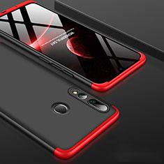 Handyhülle Hülle Kunststoff Schutzhülle Tasche Matt Vorder und Rückseite 360 Grad für Huawei Honor 20i Rot und Schwarz