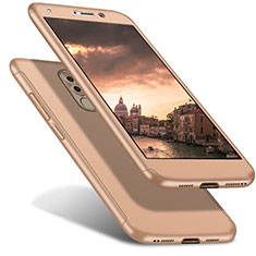 Handyhülle Hülle Kunststoff Schutzhülle Tasche Matt Vorder und Rückseite 360 Grad für Huawei Honor 6X Gold