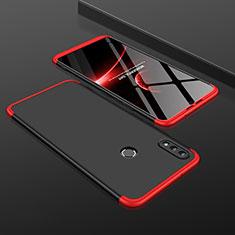 Handyhülle Hülle Kunststoff Schutzhülle Tasche Matt Vorder und Rückseite 360 Grad für Huawei Honor 8X Rot und Schwarz
