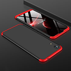 Handyhülle Hülle Kunststoff Schutzhülle Tasche Matt Vorder und Rückseite 360 Grad für Huawei Honor Play 8A Rot und Schwarz
