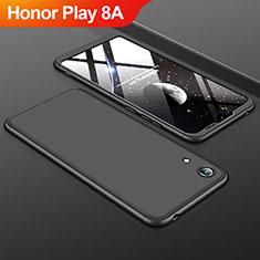 Handyhülle Hülle Kunststoff Schutzhülle Tasche Matt Vorder und Rückseite 360 Grad für Huawei Honor Play 8A Schwarz