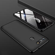 Handyhülle Hülle Kunststoff Schutzhülle Tasche Matt Vorder und Rückseite 360 Grad für Huawei Honor V20 Schwarz