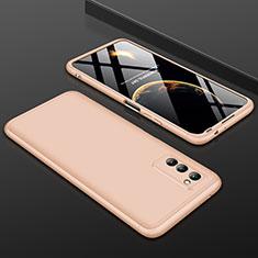 Handyhülle Hülle Kunststoff Schutzhülle Tasche Matt Vorder und Rückseite 360 Grad für Huawei Honor View 30 5G Gold