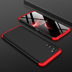 Handyhülle Hülle Kunststoff Schutzhülle Tasche Matt Vorder und Rückseite 360 Grad für Huawei Honor View 30 5G Rot und Schwarz