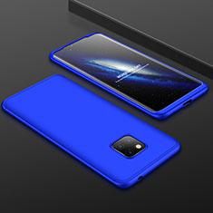 Handyhülle Hülle Kunststoff Schutzhülle Tasche Matt Vorder und Rückseite 360 Grad für Huawei Mate 20 Pro Blau