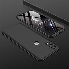 Handyhülle Hülle Kunststoff Schutzhülle Tasche Matt Vorder und Rückseite 360 Grad für Huawei P Smart (2019) Schwarz