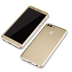Handyhülle Hülle Kunststoff Schutzhülle Tasche Matt Vorder und Rückseite 360 Grad für Huawei P Smart Gold