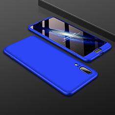 Handyhülle Hülle Kunststoff Schutzhülle Tasche Matt Vorder und Rückseite 360 Grad für Huawei P20 Blau