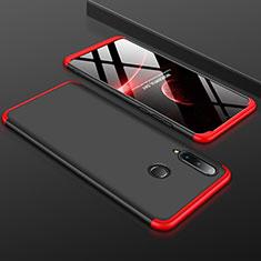 Handyhülle Hülle Kunststoff Schutzhülle Tasche Matt Vorder und Rückseite 360 Grad für Huawei P30 Lite Rot und Schwarz