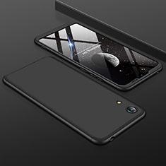 Handyhülle Hülle Kunststoff Schutzhülle Tasche Matt Vorder und Rückseite 360 Grad für Huawei Y6 (2019) Schwarz
