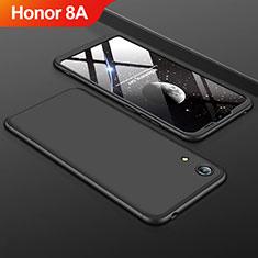 Handyhülle Hülle Kunststoff Schutzhülle Tasche Matt Vorder und Rückseite 360 Grad für Huawei Y6 Prime (2019) Schwarz