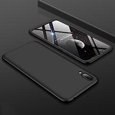 Handyhülle Hülle Kunststoff Schutzhülle Tasche Matt Vorder und Rückseite 360 Grad für Huawei Y7 (2019) Schwarz