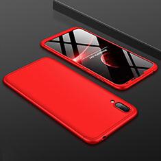 Handyhülle Hülle Kunststoff Schutzhülle Tasche Matt Vorder und Rückseite 360 Grad für Huawei Y7 Prime (2019) Rot