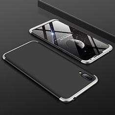 Handyhülle Hülle Kunststoff Schutzhülle Tasche Matt Vorder und Rückseite 360 Grad für Huawei Y7 Prime (2019) Silber