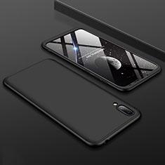 Handyhülle Hülle Kunststoff Schutzhülle Tasche Matt Vorder und Rückseite 360 Grad für Huawei Y7 Pro (2019) Schwarz