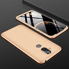 Handyhülle Hülle Kunststoff Schutzhülle Tasche Matt Vorder und Rückseite 360 Grad für Nokia 7.1 Plus Gold