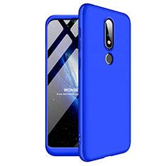 Handyhülle Hülle Kunststoff Schutzhülle Tasche Matt Vorder und Rückseite 360 Grad für Nokia X6 Blau