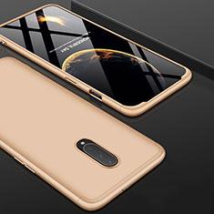Handyhülle Hülle Kunststoff Schutzhülle Tasche Matt Vorder und Rückseite 360 Grad für OnePlus 7 Pro Gold