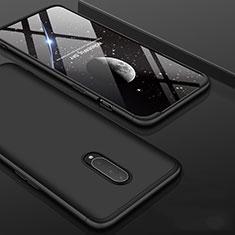 Handyhülle Hülle Kunststoff Schutzhülle Tasche Matt Vorder und Rückseite 360 Grad für OnePlus 7 Pro Schwarz