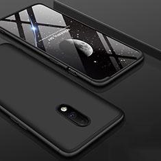 Handyhülle Hülle Kunststoff Schutzhülle Tasche Matt Vorder und Rückseite 360 Grad für OnePlus 7 Schwarz