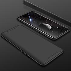 Handyhülle Hülle Kunststoff Schutzhülle Tasche Matt Vorder und Rückseite 360 Grad für Oppo Find X Schwarz
