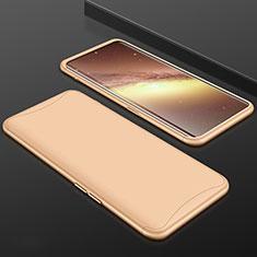 Handyhülle Hülle Kunststoff Schutzhülle Tasche Matt Vorder und Rückseite 360 Grad für Oppo Find X Super Flash Edition Gold