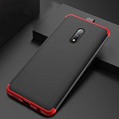 Handyhülle Hülle Kunststoff Schutzhülle Tasche Matt Vorder und Rückseite 360 Grad für Oppo K3 Rot und Schwarz
