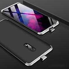 Handyhülle Hülle Kunststoff Schutzhülle Tasche Matt Vorder und Rückseite 360 Grad für Realme X Silber und Schwarz
