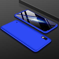 Handyhülle Hülle Kunststoff Schutzhülle Tasche Matt Vorder und Rückseite 360 Grad für Samsung Galaxy A10 Blau