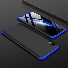 Handyhülle Hülle Kunststoff Schutzhülle Tasche Matt Vorder und Rückseite 360 Grad für Samsung Galaxy A10 Blau und Schwarz
