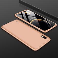 Handyhülle Hülle Kunststoff Schutzhülle Tasche Matt Vorder und Rückseite 360 Grad für Samsung Galaxy A10 Gold