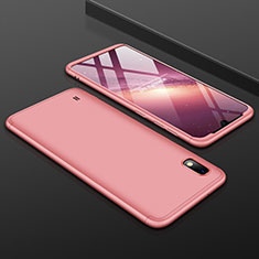 Handyhülle Hülle Kunststoff Schutzhülle Tasche Matt Vorder und Rückseite 360 Grad für Samsung Galaxy A10 Rosegold