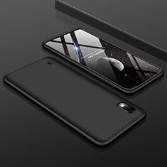 Handyhülle Hülle Kunststoff Schutzhülle Tasche Matt Vorder und Rückseite 360 Grad für Samsung Galaxy A10 Schwarz