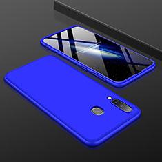 Handyhülle Hülle Kunststoff Schutzhülle Tasche Matt Vorder und Rückseite 360 Grad für Samsung Galaxy A30 Blau