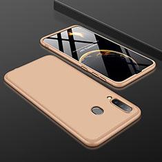 Handyhülle Hülle Kunststoff Schutzhülle Tasche Matt Vorder und Rückseite 360 Grad für Samsung Galaxy A30 Gold