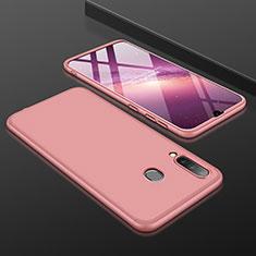 Handyhülle Hülle Kunststoff Schutzhülle Tasche Matt Vorder und Rückseite 360 Grad für Samsung Galaxy A30 Rosegold