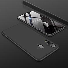 Handyhülle Hülle Kunststoff Schutzhülle Tasche Matt Vorder und Rückseite 360 Grad für Samsung Galaxy A30 Schwarz