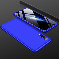 Handyhülle Hülle Kunststoff Schutzhülle Tasche Matt Vorder und Rückseite 360 Grad für Samsung Galaxy A50 Blau