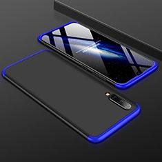 Handyhülle Hülle Kunststoff Schutzhülle Tasche Matt Vorder und Rückseite 360 Grad für Samsung Galaxy A50 Blau und Schwarz