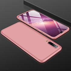 Handyhülle Hülle Kunststoff Schutzhülle Tasche Matt Vorder und Rückseite 360 Grad für Samsung Galaxy A50 Rosegold