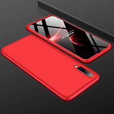 Handyhülle Hülle Kunststoff Schutzhülle Tasche Matt Vorder und Rückseite 360 Grad für Samsung Galaxy A50 Rot