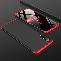 Handyhülle Hülle Kunststoff Schutzhülle Tasche Matt Vorder und Rückseite 360 Grad für Samsung Galaxy A50 Rot und Schwarz